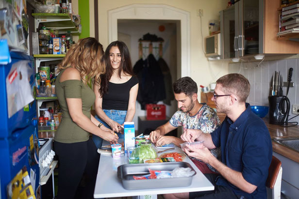 The Saxonian Studentenwerke offer dormitories - from the single apartment to the 7 flat share