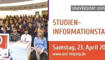 Studieninfotag an der Uni Leipzig am 23. April